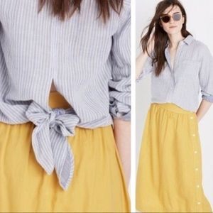 {Madewell} Tie Back Button Down Shirt